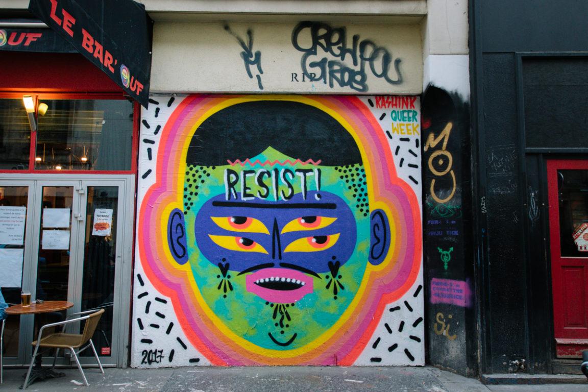 KASHINK, L'ICONOCLASTE STREET-ARTIST MOUSTACHUE